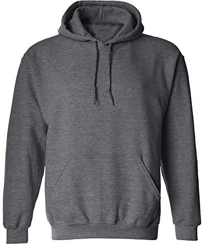 Joe's USA Hoodies Soft & Cozy Hooded Sweatshirt,Medium-DarkHeatherGrey