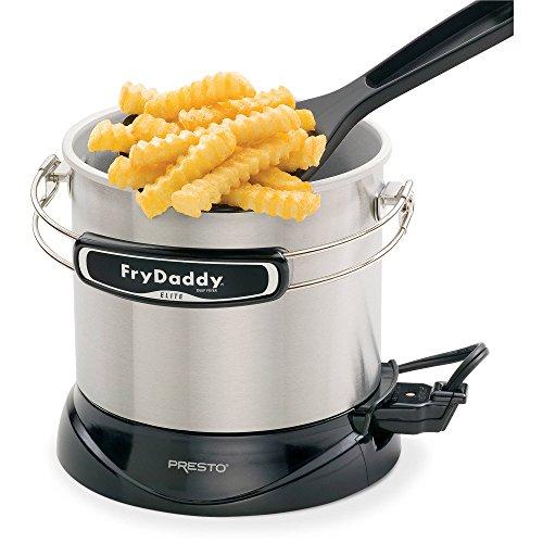 FryDaddy Elite 4-cup Electric Deep Fryerおいしいdeep-fried Foods、迅速、簡単8.125X 9.0X 7.5by Presto