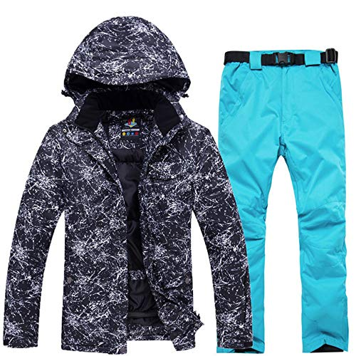 Skipak mannen winterwarm sneeuwpak ski-jack + bretels skibroek winddicht waterdicht warm outdoor