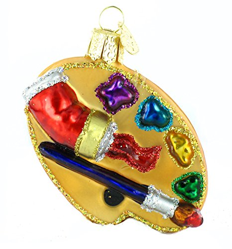 Old World Christmas Palette Artist Palatte Glass Blown Ornaments for...