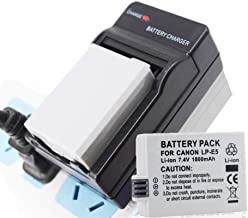 2 Pcs Bateria LPE5 LP-E5 LP E5 Battery with Charger for Canon 450D 500D 1000D Kiss X2 X3 F Rebel XSi XLI XS