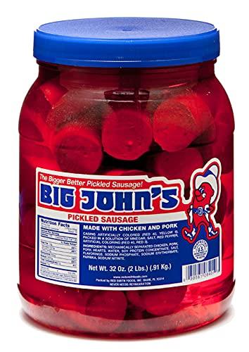 Big John's Pickled Sausage Half Gallon Jar