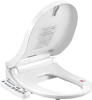 DR FUSSY Electric Toilet Bidet Seat Auto Smart Heated Washlet Bathroom Warm Water Massage D Shape w/Cover