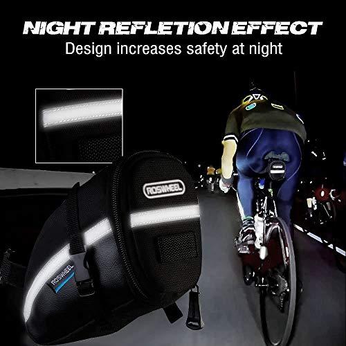 iKALULA Fahrrad Satteltasche, Kompakte Wasserdichte Rahmentasche Fahrradtasche Oberrohrtasche Aero Wedge Pack Mountainbike Bag für Mountainbikes, Fahrräder, und Rennräder – Schwarz - 5