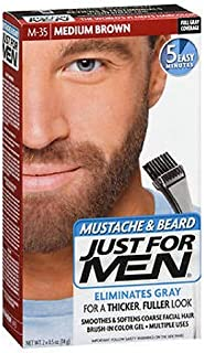 Just For Men Brush-In Color Gel Moustache and Beard Medium Brown M-35