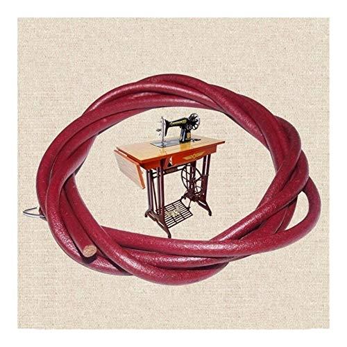 """HEIFENGMUMA Soporte Duradera 183cm Correa de Cuero de Piezas de Pedal con Gancho for la máquina de Coser 5 mm 3/16"""" Antiguos del hogar Máquinas de Coser Accesorios Sistema (Color : Red)"""