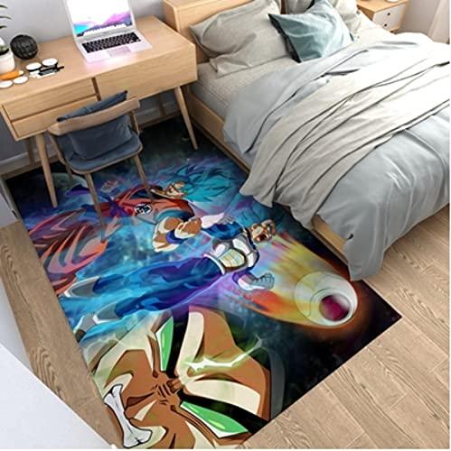 Alfombrilla de Dragon Ball Z, Alfombra de Anime de Goku, Almohadilla de cabecera de Super Saiyan, alfombras de área de decoración del hogar de Hada Tortuga 140x200cm