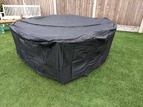 Speedwellstar Round Garden Table Hot Tub Cover Furniture Patio Fitted Circular Drawstring 4-6 Seat Dining Set Large Breathable Quality