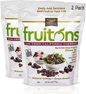 Traina Home Grown Fruitons California Sun Dried Cherries - No Sugar Added, Non GMO, Gluten Free, Kosher Certified, 6 oz pouch (pack of 2)