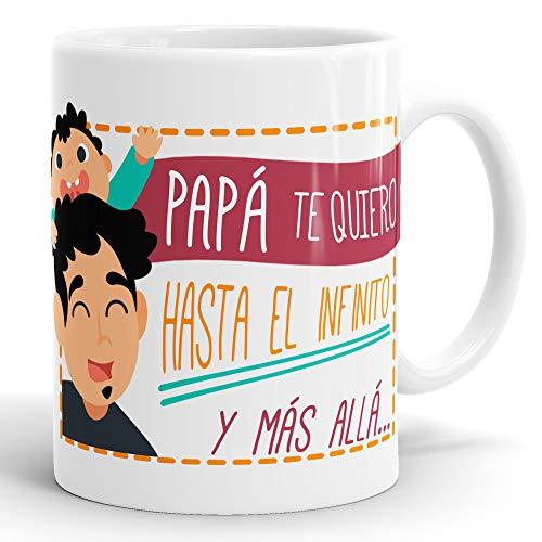 REGALOS ESTRELLA AZUL Taza día del Padre Regalo para Papa, Papa te Quiero, al Mejor papá del Mundo, Regalos Padres, Regalos día del Padre, te Quiero Papa, Taza con Frases (Papá te Quiero)