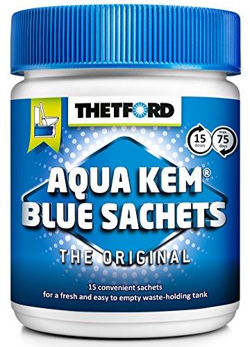 Thetford 200413 Bolsitas para desodorizar y facilitar el vaciado del depósito de residuos Aqua Kem Blue Sachets