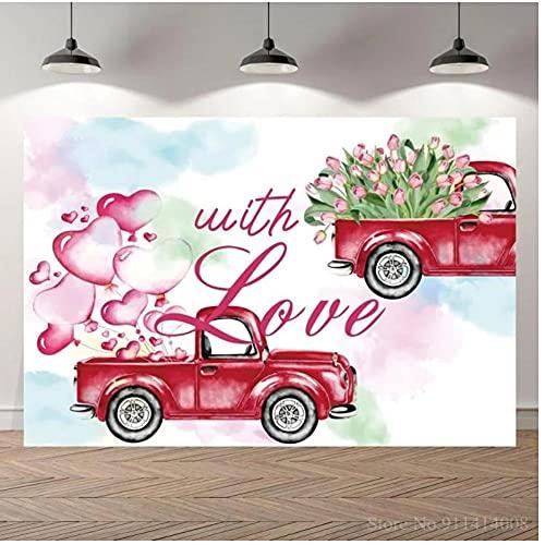Fondo de vinilo para decoración de mesa con diseño de coche rojo...