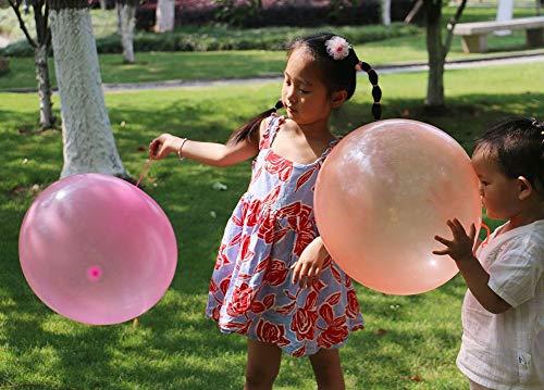 hj Globos de Agua Bola Llena de Agua, Bola de Burbuja de Agua Transparente TPR Water-Filled Interactive Rubber Big Amazing Bubble Balls by Bubble World Water Bubble Ball, 2PCS