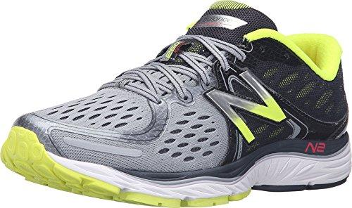New Balance Men's 1260 V6 Running Shoe, Grey/Yellow, 14 2E...