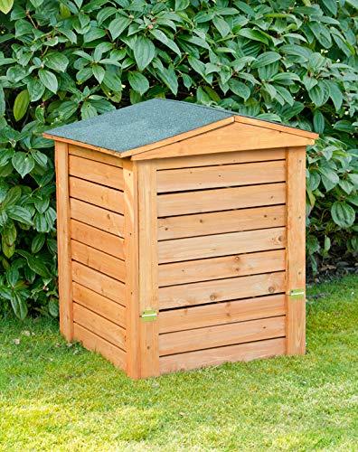Lacewing 288 Liter Komposter aus Holz mit Deckel 80 cm x 60 cm x 60 cm