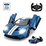 RASTAR RC Car | 1/14 Ford GT Remote Control RC Race Toy Car for Kids, Open Doors by Manual, Blue (27MHz)