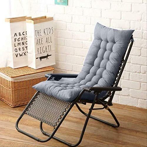 N/D Cojín reclinable de jardín extraíble Silla Cojín para Exteriores Cojín mecedor Cojín Grueso para Asiento de Sol Cojín 48x125 cm Gris Oscuro