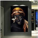 Feines Gold des Adels der afrikanischen Frau Kostspieliges