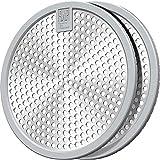 Shower Drain Hair Catcher/Bathtub Drain Cover/Drain Protector/Stainless Steel+Silicone/for Bathroom &...