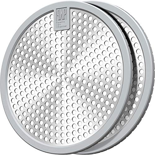 Shower Drain Hair Catcher/Bathtub Drain Cover/Drain Protector/Stainless Steel+Silicone/for Bathroom & Kitchen(2pack/4.5inch/Grey+Grey)