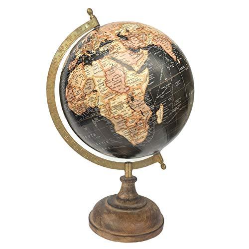 Vidal Regalos Globus für den Schreibtisch, drehbar, Metall, 20 cm Durchmesser