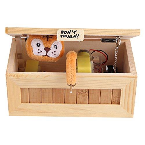 Wooden Useless Box USB Tiger box Cartoon Tiger Maschine Don't Touch Tiger Geschenke Lustige Spielzeug Tiger sound box kaste Holzkiste Spielzeug für Kinder Holz Spielzeug