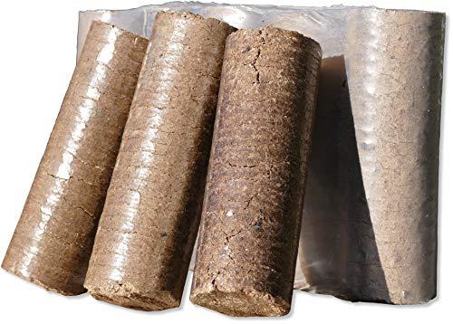 10kg - 120kg Holzbriketts Nestro Hartholz Briketts aus Buche & Eiche Kamin Ofen Heiz Brikett Brennholz Heizbrikett Nestro Brikett Rund (30)