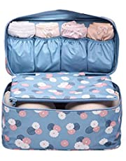 حقيبة سفر صغيرة محمولة للنساء لتخزين وحماية حمالات الصدر