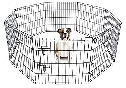 BUNNY BUSINESS - Juego de 8 Paneles para Conejos, guineas, Perros y Gatos, Color Negro