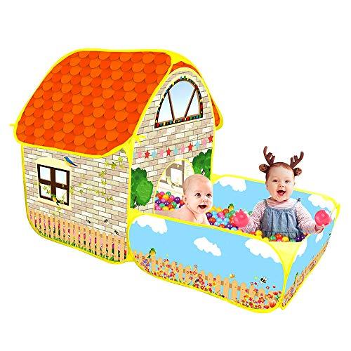 CestMall Tenda da Gioco per Bambini con pozzo per le palline, tende da gioco per interni ed esterni per bambini, ragazze e ragazzi, tenda da campeggio pop-up creativa (palline non incluse)