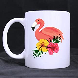 Funny Cool Novelty Design Flowers And Birds Custom White Coffee Mug Tea Cup 11 OZ Office Home Cup Best Gift