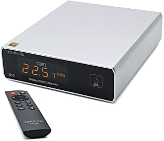 Topping E30 HiFi DAC AK4493 Chip USB Optical Coaxial DAC DSD512 768kHz Portable Desktop Decoder DAC with Remote Control(Si...