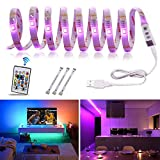 TV LED Backlight USB Powered 5V RGBW TV Lights 11.2ft 5050 Bias Lighting 16...
