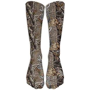 Long Camouflage Realtree Socks Women's Winter Vintage Cotton Wool Knit Long Crew Socks