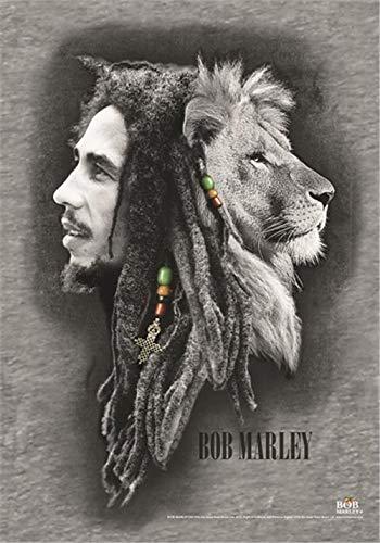 Heart Rock Licensed Flagge Bob Marley–Profiles, Stoff, Mehrfarbig, 110x 75x 0,1cm