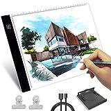 Mesa de Luz de Dibujo, HNSHAG LED A4 Tableta de Luz, Tablero de Trazado Brillo Ajustable, Light Pad para Artistas, Bocetos, Animación, Diseño, X-Ray