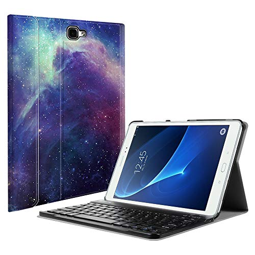 Fintie Keyboard Case for Samsung Galaxy Tab A 10.1(2016 NO S Pen Version),Slim Lightweight Stand Cover w/Magnetically Detachable Wireless Bluetooth Keyboard, Galaxy