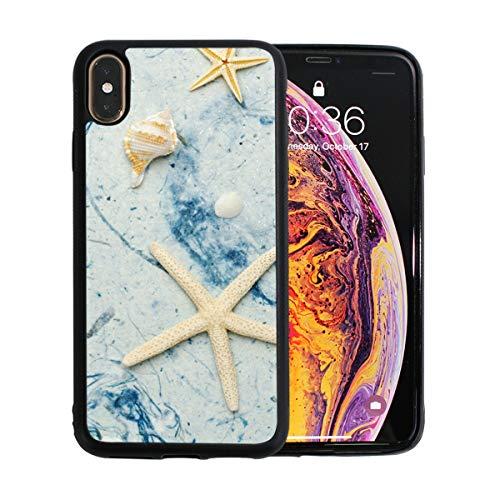 FAJRO - Carcasa para iPhone XS Max y XS Max, diseño de estrellas y conchas de playa