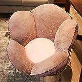 可逆 花 椅子 クッション,厚く ぬいぐるみ チェアークッション パッド 入り 遅延 クッション,ホームインテリア オフィス フロアクッション 枕 チェアパッド ブラウン 55x30cm