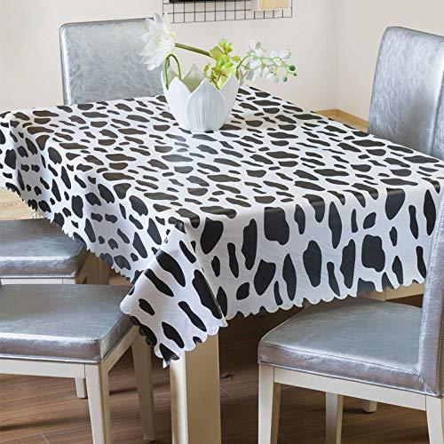 Milnsirk Mantel Mesa Antimanchas Rectangular 140x200 Impermeable PVC Plastico Antideslizante Lavable Elegante Moderno Decorativo para Sala Exterior Jardín Cocina Picnic Fiesta