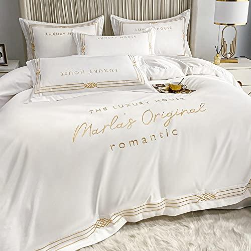 funda nordica cama 135,CUBIERTA DE REY DIVET, HOJA AJEADA Y 2 CONJUNTO DE Ropa de cama de funda de almohada, tapa de acolchado de microfibra suave Pintuck para el tamaño de Decro Home Dockro-Volar_1,
