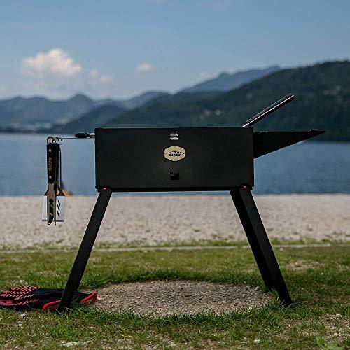 51pc8xviYuL - Gizzo Grill und Zubehör | Tragbarer und Klappgrill Holzkohle-Grill für Camping, Travel, Vanlife, Transportabler Grill, Garten und Outdoor BBQ Grill-Spaß
