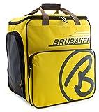 BRUBAKER 'Super Champion 2.0' Bolso para Deporte - Mochila Porta Botas De Esquí - Amarillo/Marrón