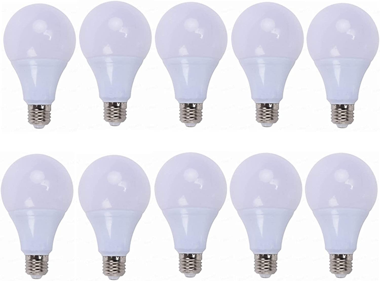 YQGOO Bombilla LED E27 de 12 V, Bombillas LED de 3/5 vatios - 12 V 24 V Bajo Voltaje 70-80LM / W Blanco cálido/frío 3000k / 6000k AC/DC 12-24V Sistema Solar Luces LED Paquete de 10