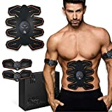 8 Pad Abs Stimulator - EMS Abs Toner Muscle Trainer, Abdominal & Arm Gel Pads for Home Workout, Resistance...