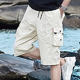 Summer Camo Men Cargo Shorts New Board Shorts Hombres Pantalones Cortos Cómodo Hombres Cool Camuflaje Algodón Casual XXL FK168Khaki