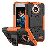 MRSTER Moto E4 Hülle, Outdoor Hard Cover Heavy Duty Dual