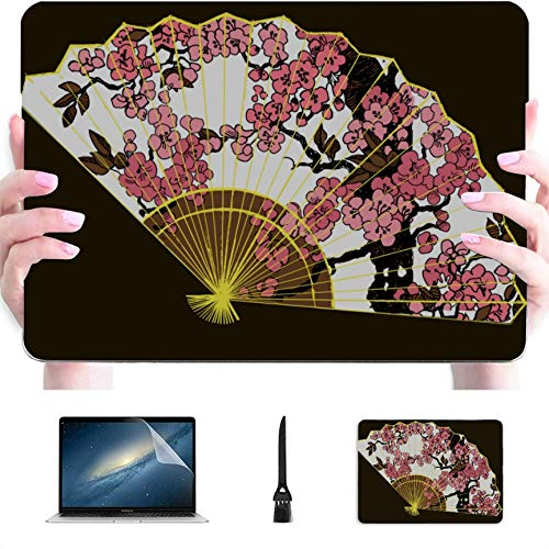 MacBook Protective Case Traditional Folding Fan Plastic Hard Shell Compatible Mac Air 13' Pro 13'/16' Laptop Cover Protective Cover for MacBook 2016-2020 Version