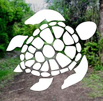 Sea Turtle [Pick Any Color] Vinyl Transfer Sticker Decal for Laptop/Car/Truck/Window/Bumper  3in x 2.7in White