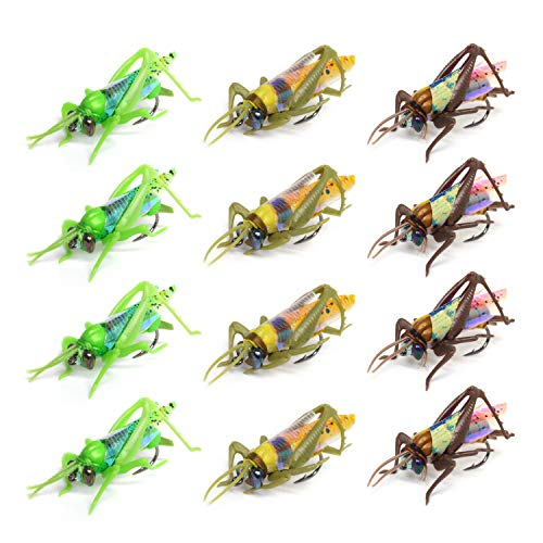 YZD - Juego de moscas para pesca, 12 Flies 3 Colors-S size
